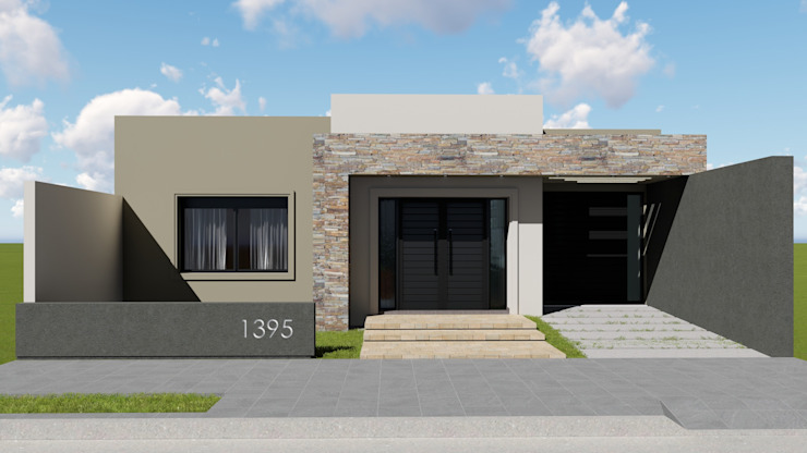Remodelacion y ampliación Vivienda Moderna/Industrial Casas modernas: Ideas, imágenes y decoración de ARBOL Arquitectos Moderno