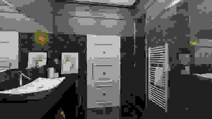 Квартира для джетсеттера Ванная комната в эклектичном стиле от Spacelab Design Эклектичный