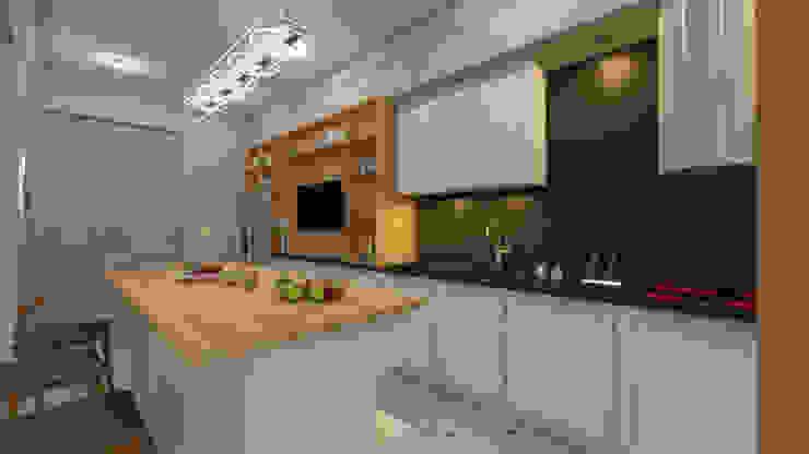 Квартира для джетсеттера Кухни в эклектичном стиле от Spacelab Design Эклектичный