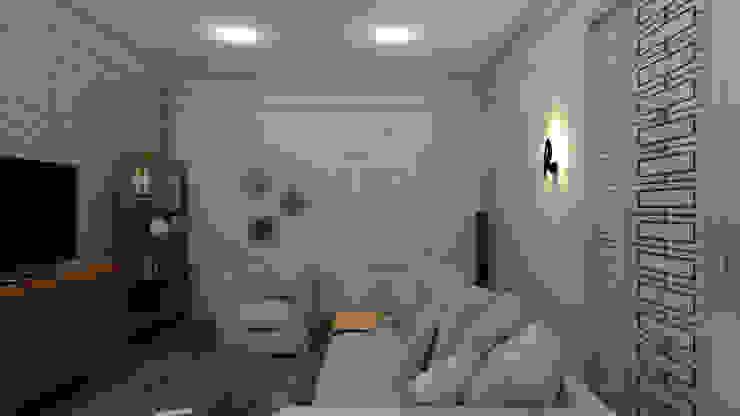 Квартира для джетсеттера Гостиные в эклектичном стиле от Spacelab Design Эклектичный