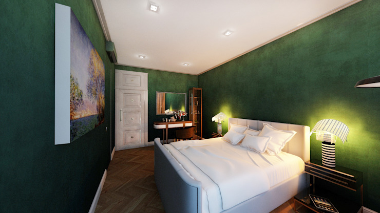 Квартира для джетсеттера Спальня в эклектичном стиле от Spacelab Design Эклектичный
