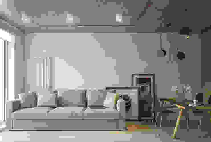 Ristrutturazione appartamento 52 mq - Forlì Soggiorno moderno di Santoro Design Render Moderno