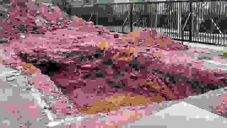 Excavación homify Piscinas de jardín Concreto reforzado Azul