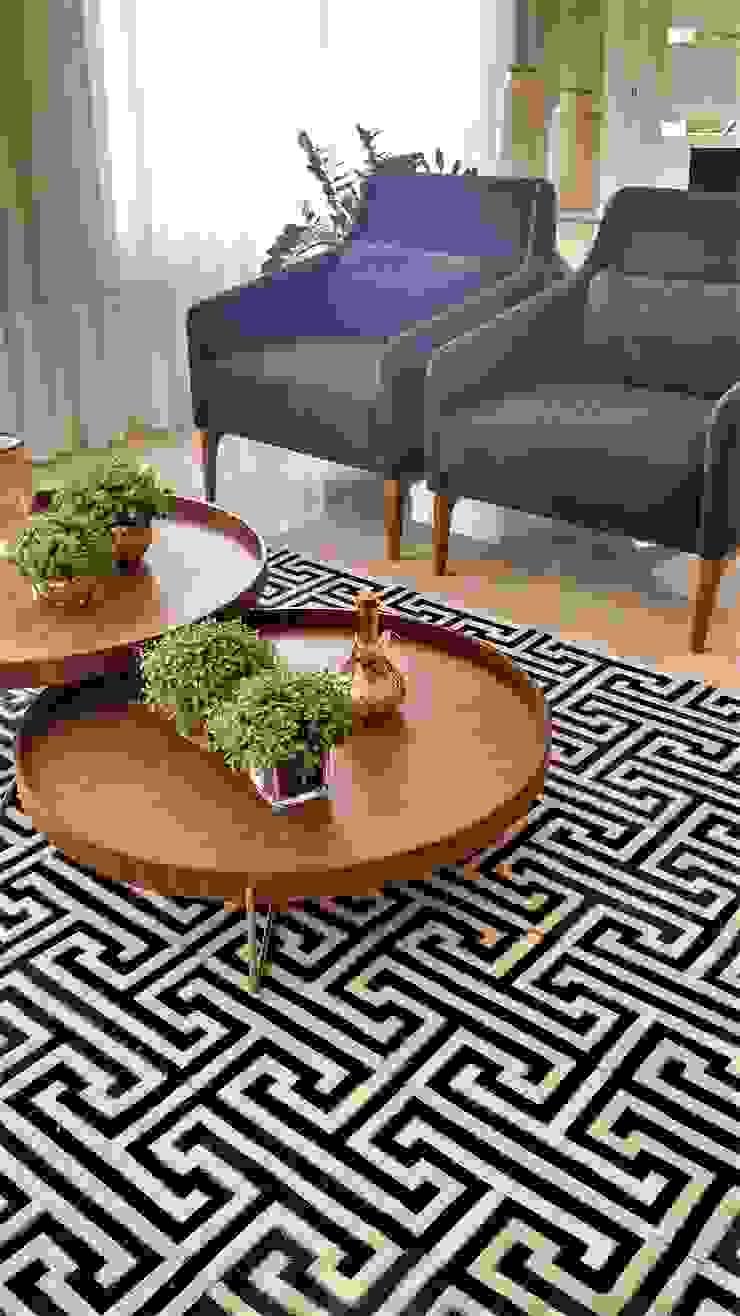 Tapete Couro Preto e Branco por Sgabello Interiores Moderno Pele Cinza