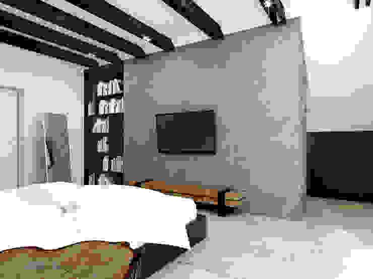 365 Stopni Industrial style bedroom Wood Black