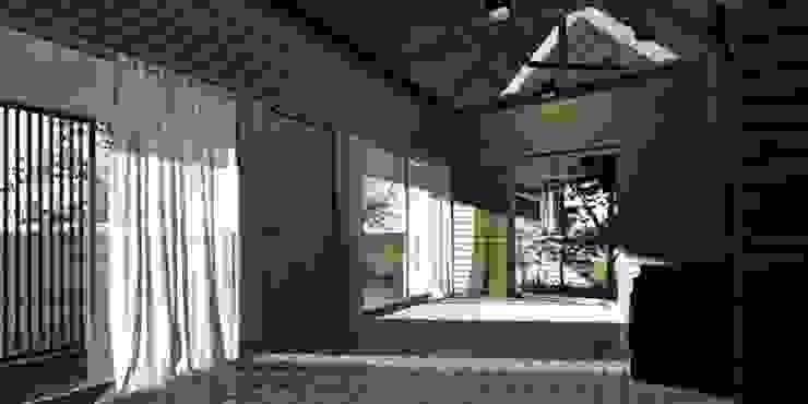 casa rural - Arquitectos en Coyhaique Country style corridor, hallway & stairs