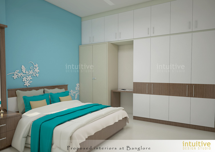 Bedroom view: modern  by INTUITIVE DESIGN STUDIO,Modern