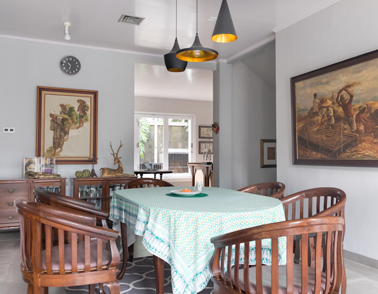 Dining Area // i45 House homify Ruang Makan Modern Brown