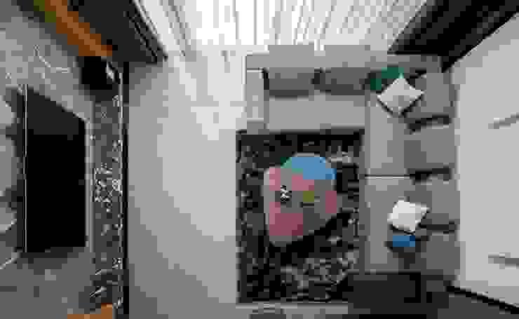 Soggiorno moderno di 築青室內裝修有限公司 Moderno