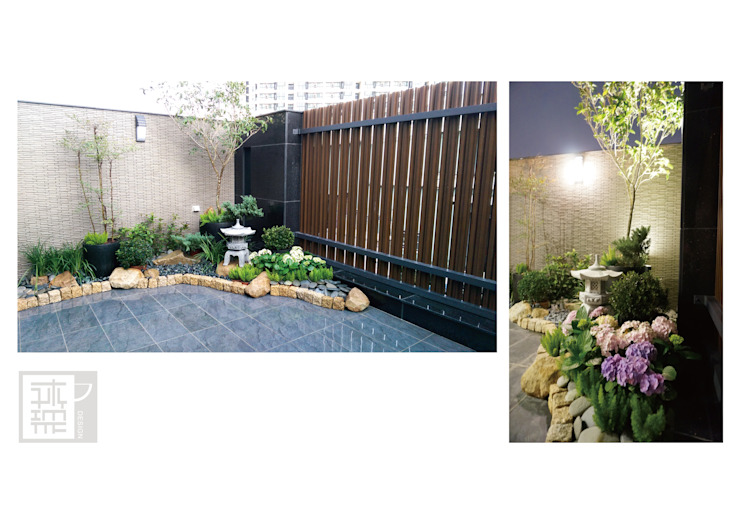 Eclectic style balcony, porch & terrace by 沐築空間設計 Eclectic