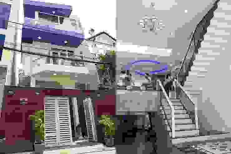 Bố cục không gian ngôi nhà phố 3 tầng bởi Công ty TNHH Xây Dựng TM – DV Song Phát Hiện đại