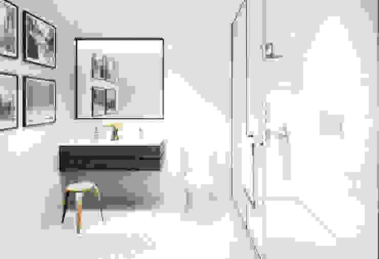 Columbia Street | Bathroom GD Arredamenti Bagno in stile mediterraneo Legno massello Marrone