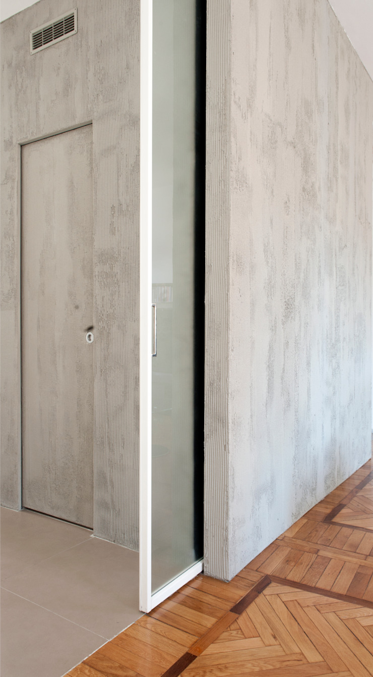 Gianluca Bugeia ARCHITETTO Sliding doors Concrete Grey