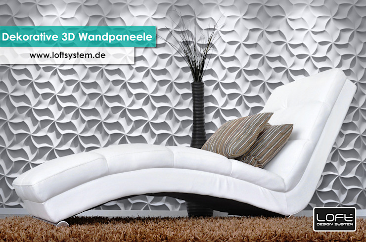 Dekorative 3D Wandpaneele Modell Nr. 29 Moderne Wände & Böden von Loft Design System Deutschland - Wandpaneele aus Bayern Modern