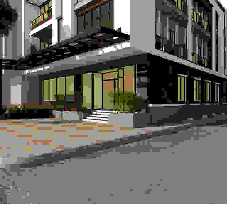 Nhà ở kết hợp siêu thị bởi công ty cổ phần kiến trúc và nội thất adhome Hiện đại