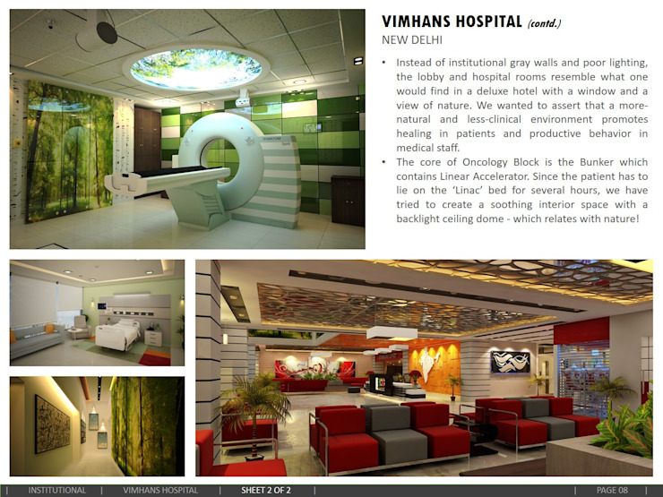 VIMHANS Hospital, New Delhi Modern hospitals by amitmurao.com Modern