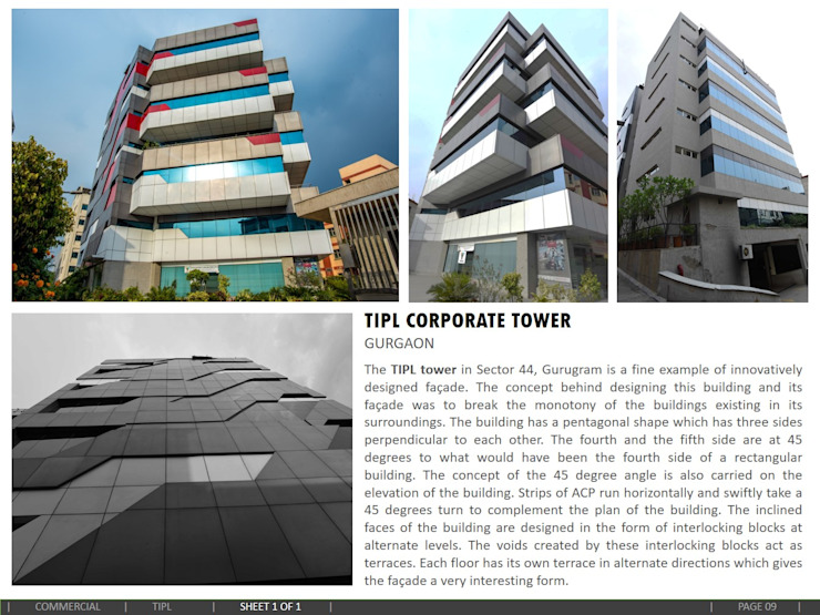 Corporate Tower, Gurgaon Modern office buildings by amitmurao.com Modern