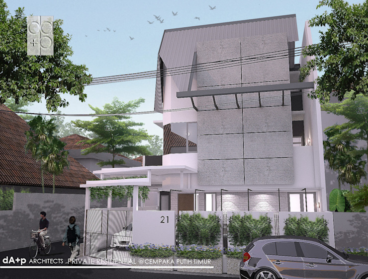 Metal Colorbond roof, Concrete-looked Tile Oleh daksaja architects and planners