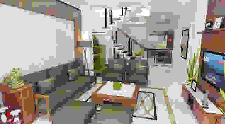 Hình ảnh 3D thiết kế nội thất bởi Công ty TNHH Xây Dựng TM – DV Song Phát Hiện đại