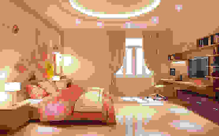 Hình ảnh 3D thiết kế nội thất Phòng ngủ phong cách hiện đại bởi Công ty TNHH Xây Dựng TM – DV Song Phát Hiện đại