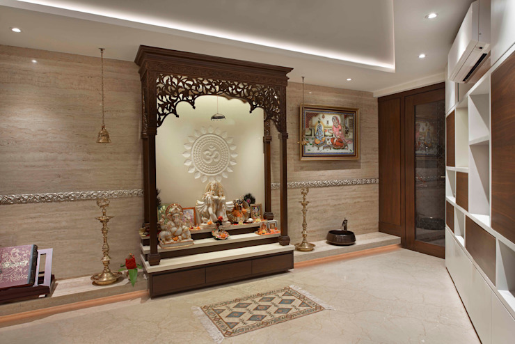 10 Simple Ideas For Beautiful Pooja Rooms In Indian Homes Homify Homify