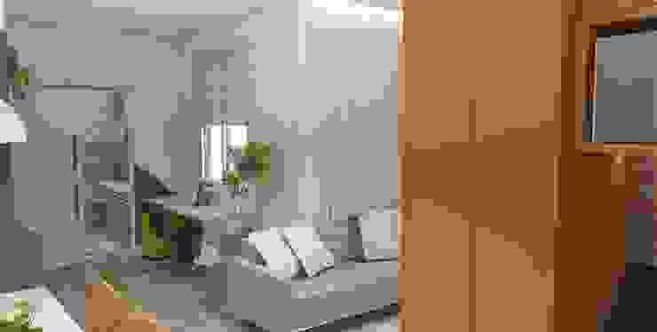 Arquiteto Virtual - Projetos On lIne Oficinas de estilo moderno Madera Gris