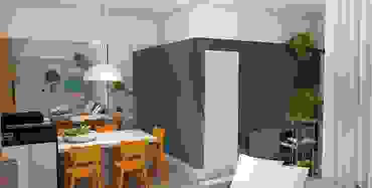 Arquiteto Virtual - Projetos On lIne Comedores de estilo moderno Madera Azul