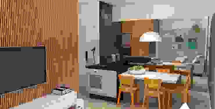 Arquiteto Virtual - Projetos On lIne Cocinas equipadas Tablero DM Naranja