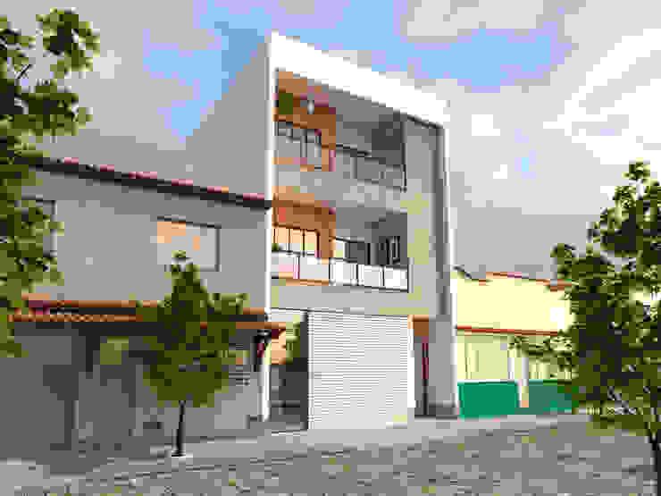 Edifício Residencial/Comercial AT arquitetos Casas modernas