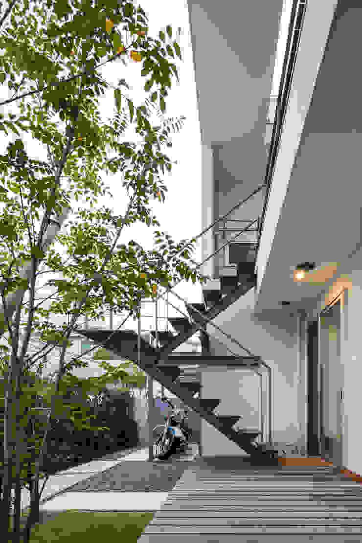 桜と暮らす家 の Kenji Yanagawa Architect and Associates モダン 鉄/鋼