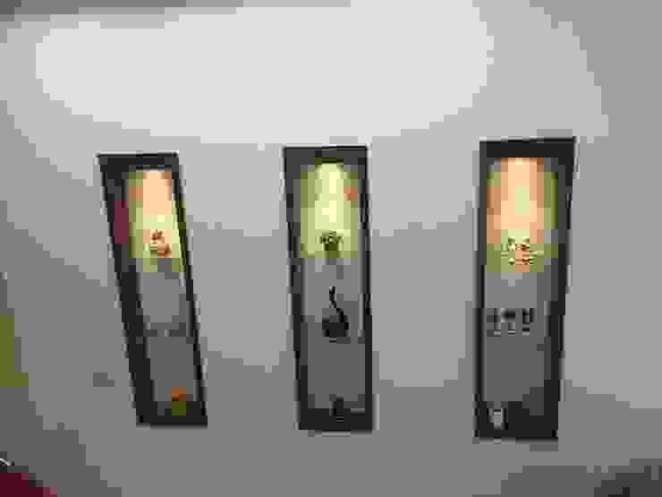 Những chi tiết trang trí tinh tế của ngôi nhà Tường & sàn phong cách châu Á bởi Công ty TNHH TK XD Song Phát Châu Á Đồng / Đồng / Đồng thau