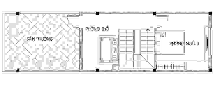 Bản vẽ mặt bằng tầng 3 bởi Công ty TNHH TK XD Song Phát Châu Á Đá hoa