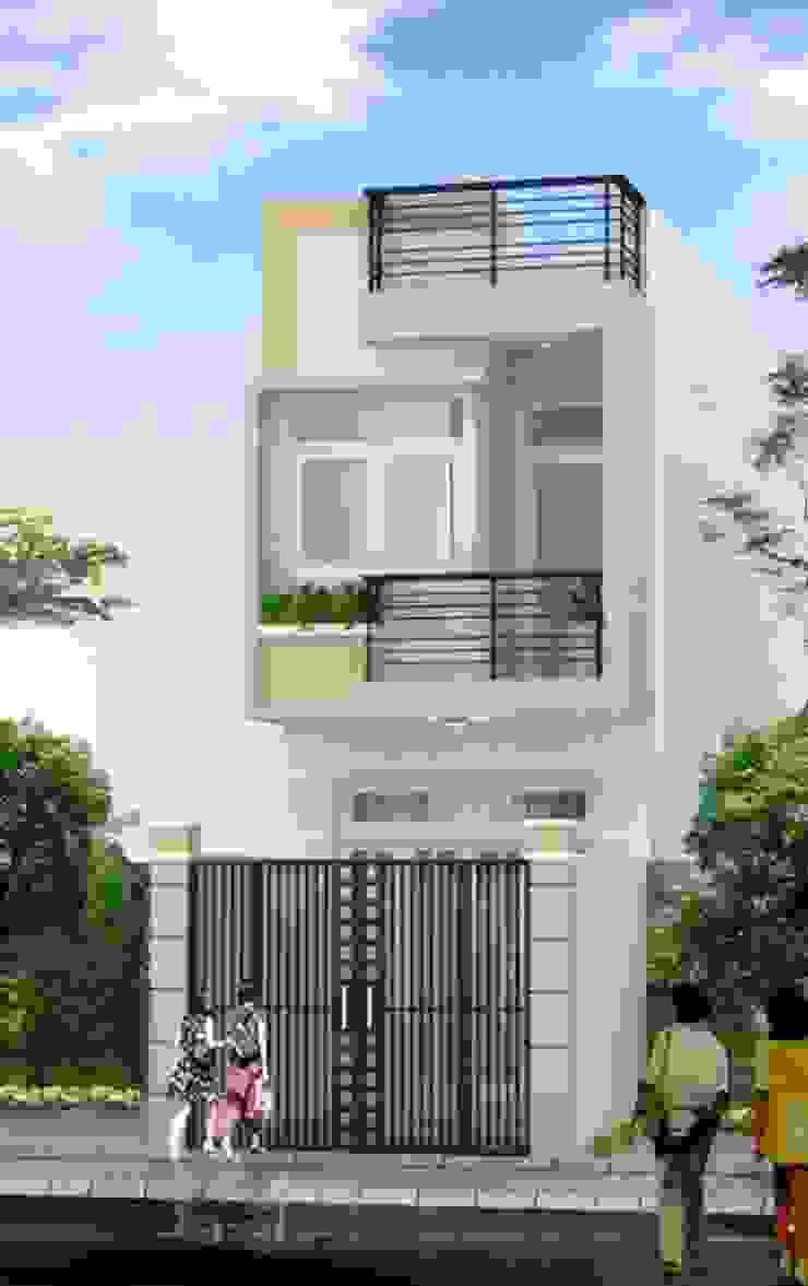 Xây nhà 2 tầng thiết kế 3 phòng ngủ rộng thoáng chỉ với 680 triệu bởi Công ty TNHH Xây Dựng TM – DV Song Phát Hiện đại
