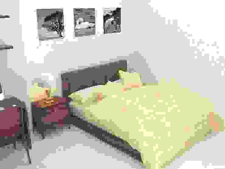Xây nhà 2 tầng thiết kế 3 phòng ngủ rộng thoáng chỉ với 680 triệu Phòng ngủ phong cách hiện đại bởi Công ty TNHH Xây Dựng TM – DV Song Phát Hiện đại