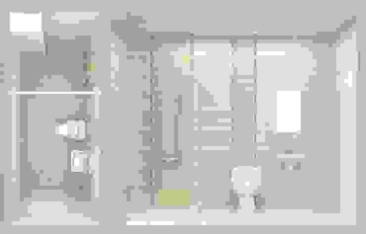 Xây nhà 2 tầng thiết kế 3 phòng ngủ rộng thoáng chỉ với 680 triệu Phòng tắm phong cách hiện đại bởi Công ty TNHH Xây Dựng TM – DV Song Phát Hiện đại