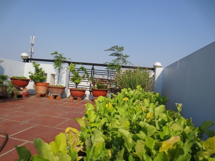Xây nhà 2 tầng thiết kế 3 phòng ngủ rộng thoáng chỉ với 680 triệu Hiên, sân thượng phong cách hiện đại bởi Công ty TNHH Xây Dựng TM – DV Song Phát Hiện đại