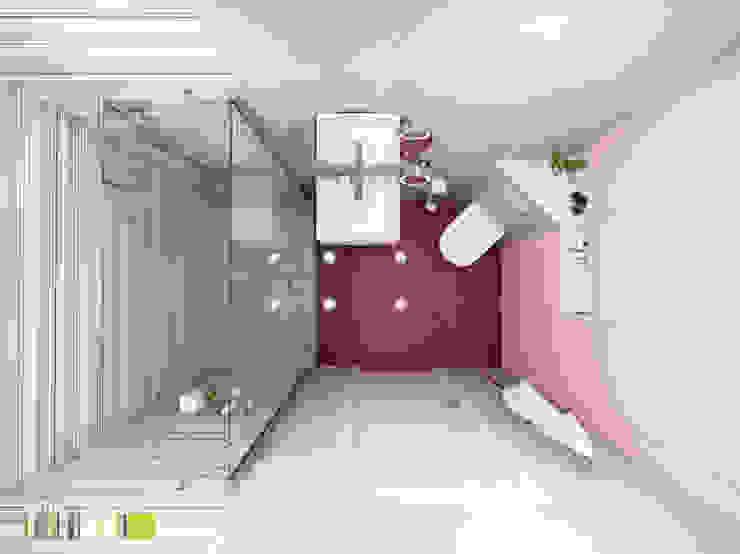 Хрусталь и глянец Ванная комната в эклектичном стиле от Мастерская интерьера Юлии Шевелевой Эклектичный