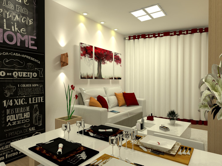 Classic style living room by Laene Carvalho Arquitetura e Interiores Classic