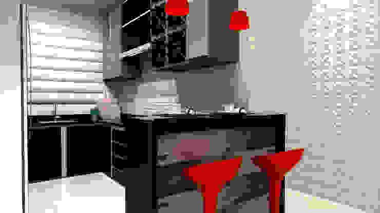 Cozinha Integrada por Laene Carvalho Arquitetura e Interiores Moderno
