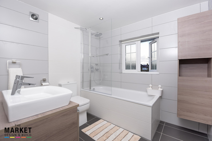 Isleworth House Loft and Rear Extension Modern bathroom by The Market Design & Build Modern