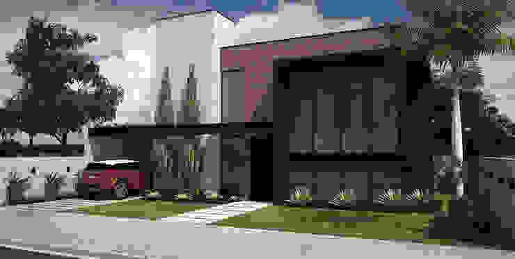 Fachada - Loft Residencial Casas industriais por Rodrigo Westerich - Design de Interiores Industrial Tijolo
