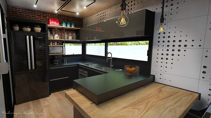 by Rodrigo Westerich - Design de Interiores Industrial Bricks
