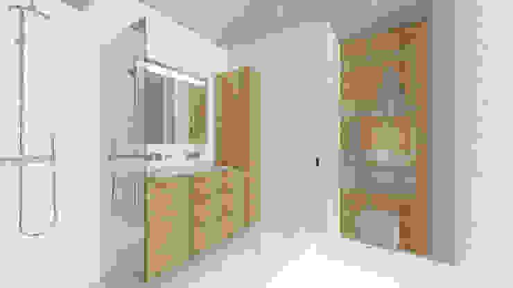 Salle de bains parentale. Salle de bain moderne par Lionel CERTIER - Architecture d'intérieur Moderne