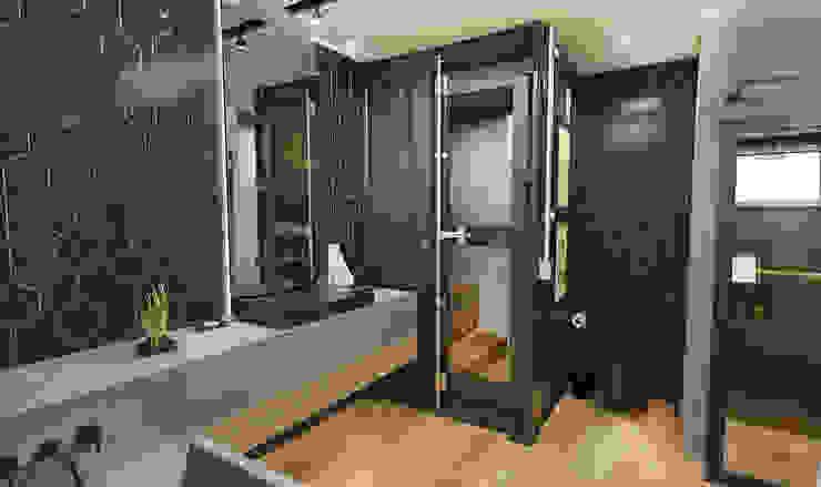Rodrigo Westerich - Design de Interiores Industrial style bathroom Concrete Green