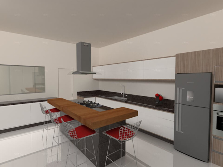 Cocinas minimalistas de Imaginare Arquitetura e Interiores Minimalista