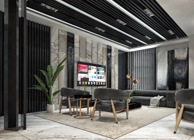 Administrative Executive Office by TK Designs Modern