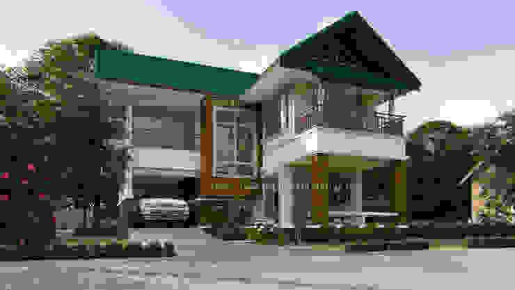 แบบบ้าน 3ห้องนอน 2ห้องน้ำ 162 ตร.ม โดย fewdavid3d-design