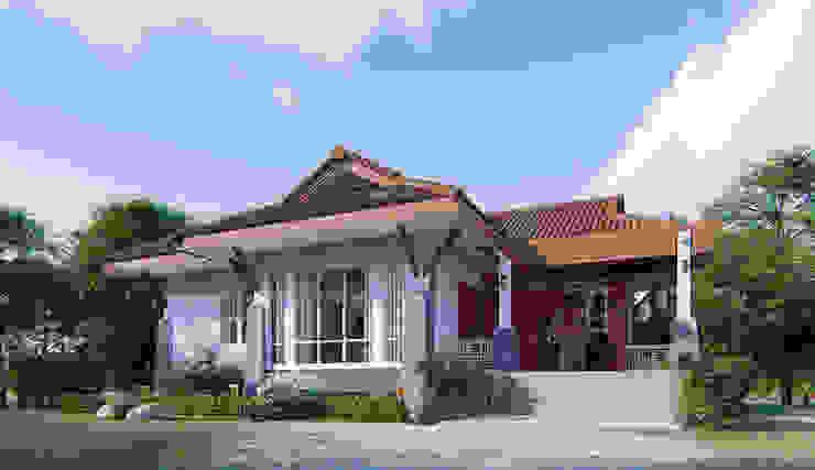 แบบบ้าน2ห้องนอน 1ห้องน้ำ 86ตร.ม. โดย fewdavid3d-design