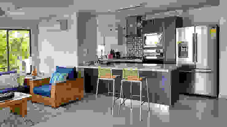Remodelar Proyectos Integrales Moderne keukens Spaanplaat Grijs