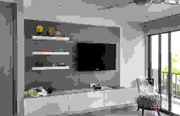 Mueble multimedia en la habitación Habitaciones modernas de Remodelar Proyectos Integrales Moderno Aglomerado